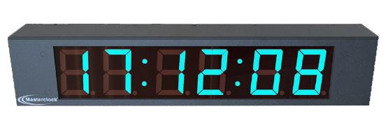 LUX26 6-Digit Multi-Color Digital Clock