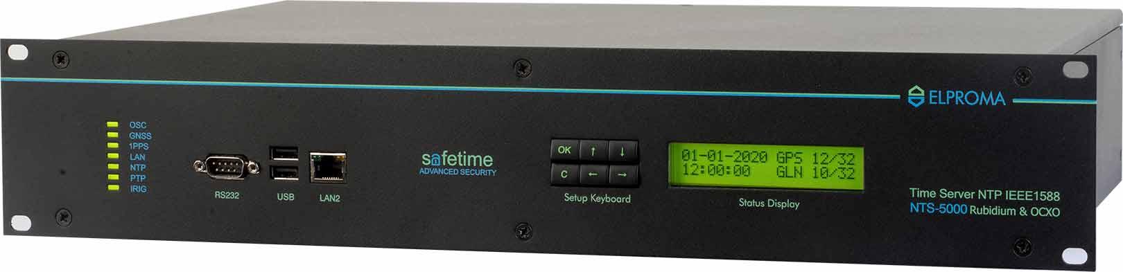 NTS-5000 NTP/PTP IEEE1588 Modular Time Server
